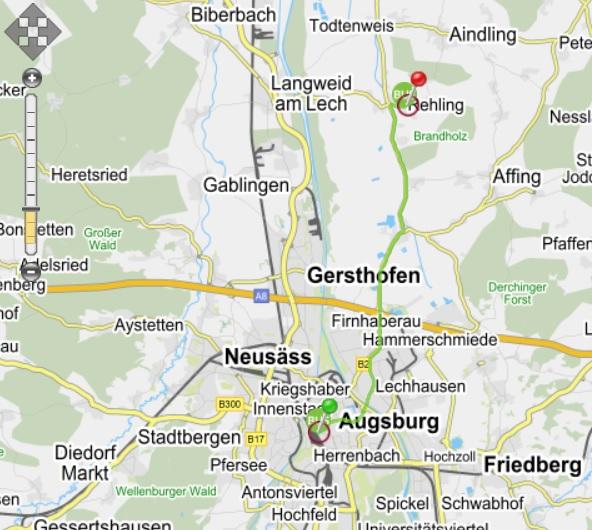 Karte Busweg